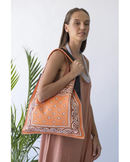 Τσάντα Shopper  BANDANA Πορτοκαλί