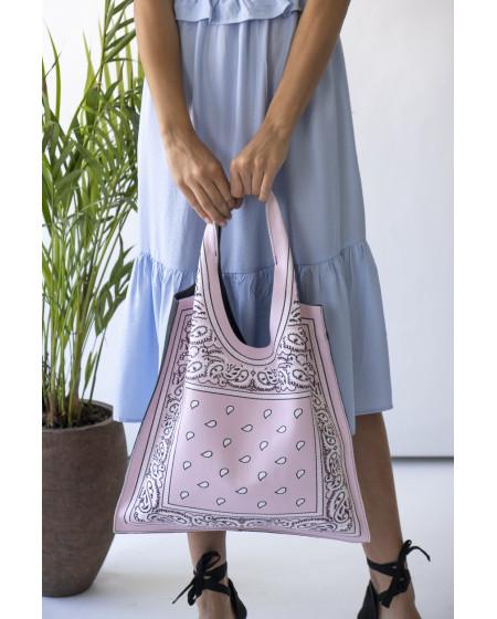 Τσάντα Shopper BANDANA ροζ
