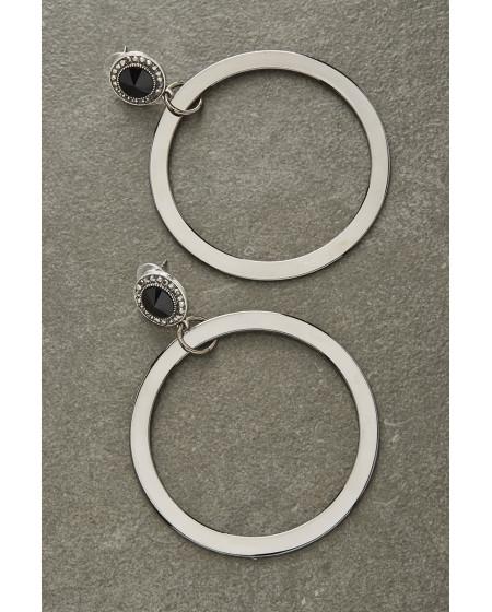 Σκουλαρίκια  Black Silver