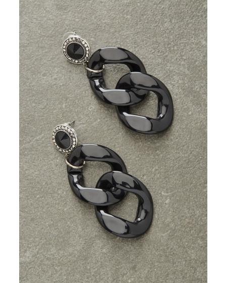 Σκουλαρίκια Black Chain