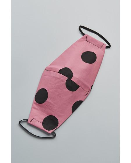 Μάσκα Dots Ροζ