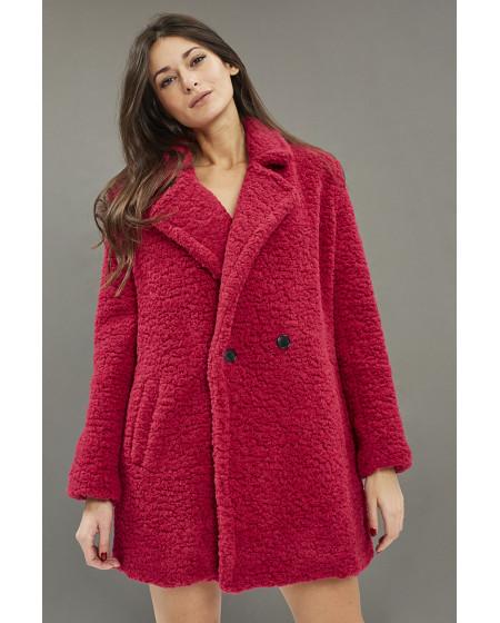 Παλτό Φούξια Faux Fur