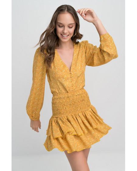 Τοπ Πουκάμισο Κίτρινο YAMANDA