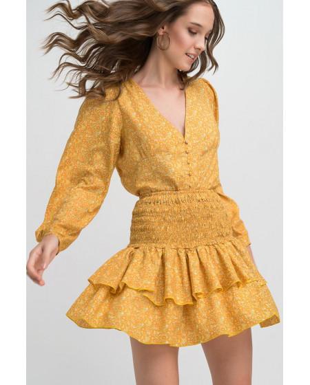 Φούστα Κίτρινη TATIANA