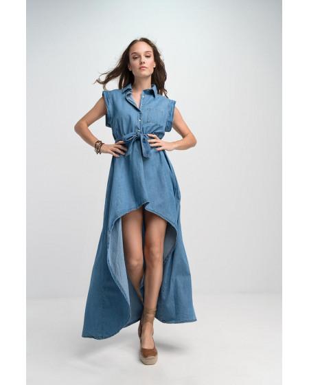 Φόρεμα Τζην Ασύμμετρο
