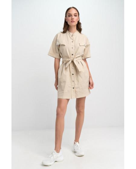 Φόρεμα Safari Mπεζ