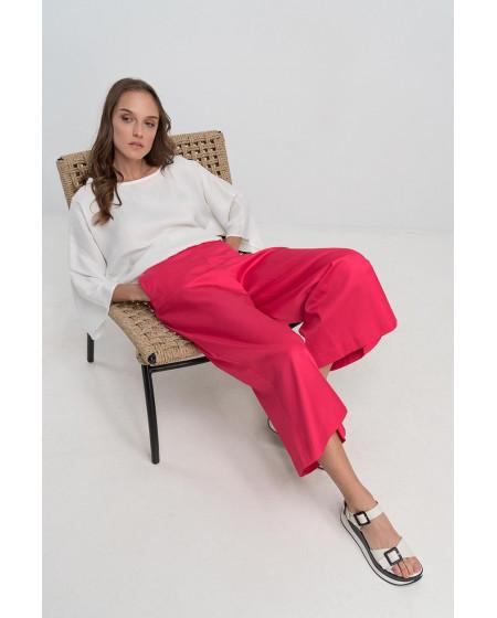 Παντελόνι Βαμβακερό Ροζ IOANNA KOURBELA