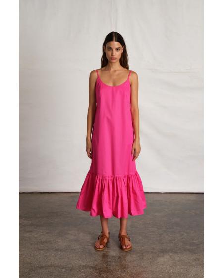 Φόρεμα Μάξι Φουξ με βολάν BY IOANNA KOURBELA