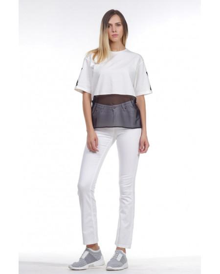 Μπλούζα με διαφάνεια KENDALL+KYLIE
