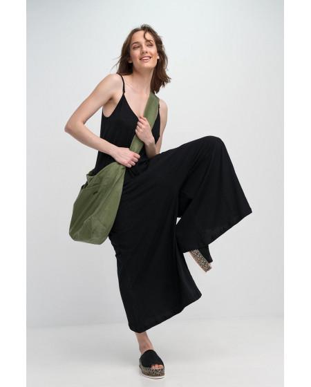 Ολόσωμη Φόρμα Βαμβακερή Μαύρη