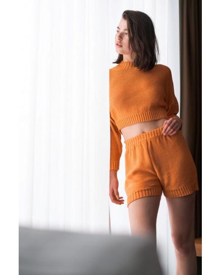 Σορτς Μπλούζα cropped Orange
