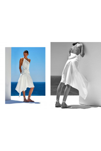 Φόρεμα Λευκό ANGELOS BRATIS
